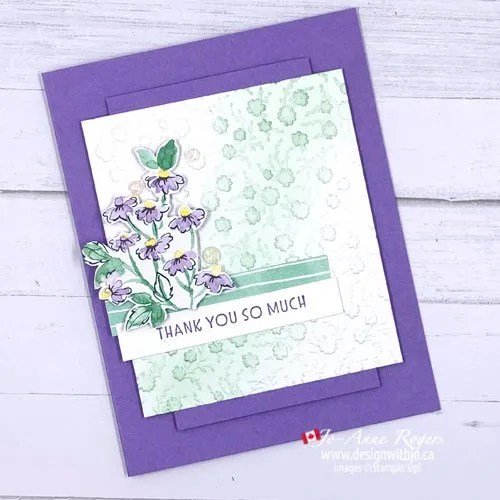 VIDEO to Make a Simple Card with an Embossed Background