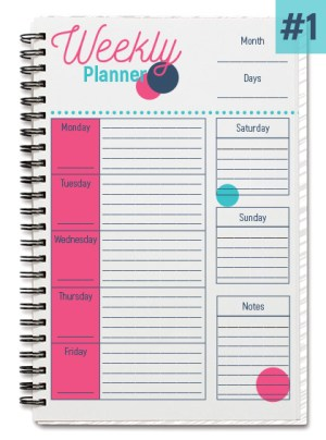 Cotton Candy Weekly Planner #1