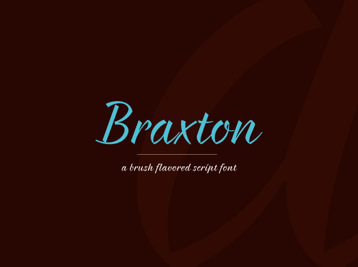 braxton01 Elegant Fonts That You Should Include in Your Designs