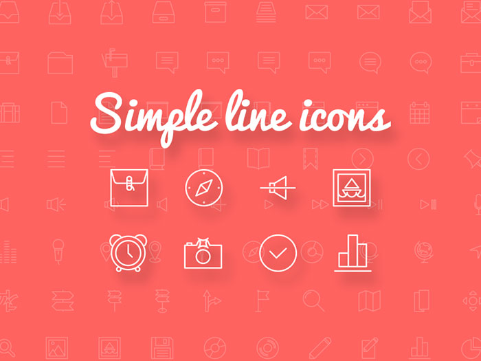 「Simple line icons」