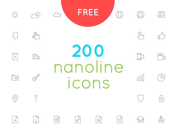 200 nanoline アイコン セット