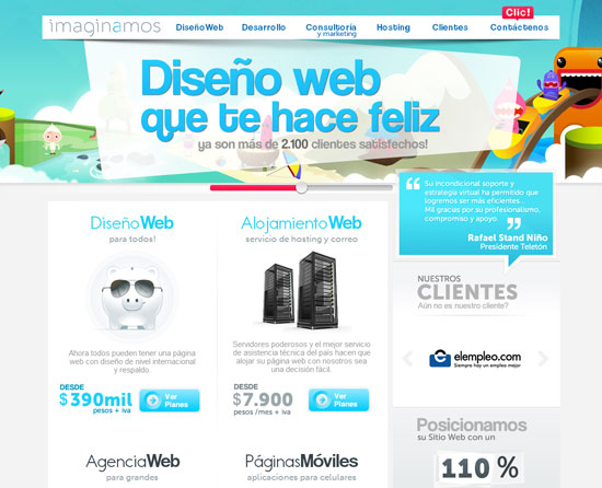 imaginamos.com Site design