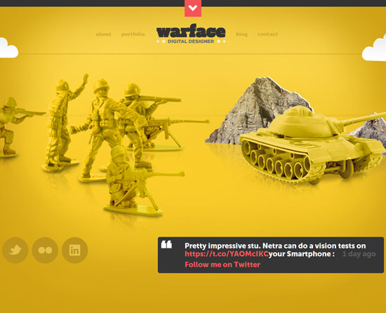 warface.co.uk Site design
