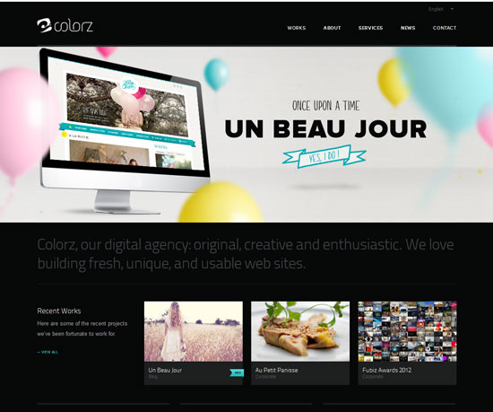 colorz.fr Website Design Inspiration