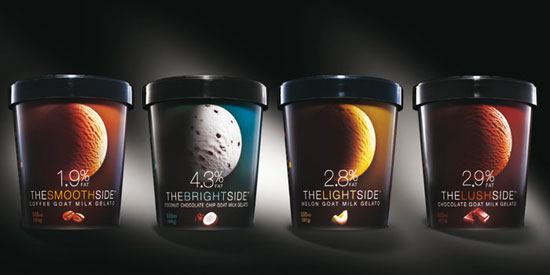 La Lune Ice Cream Package Design Inspiration