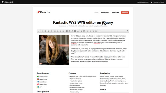 Fantastic WYSIWYG editor on jQuery