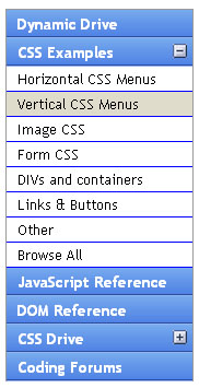 Glossy Accordion Menu