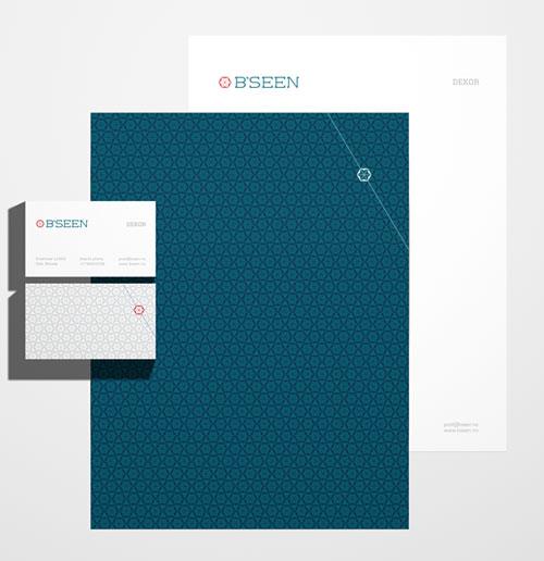 B'seen Visual Identity - Letterhead And Logo Design Inspiration