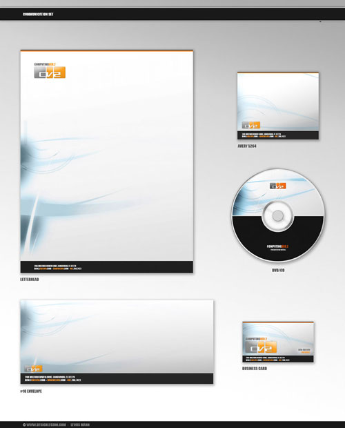 Computing Ver.2 CommSet - Letterhead And Logo Design Inspiration