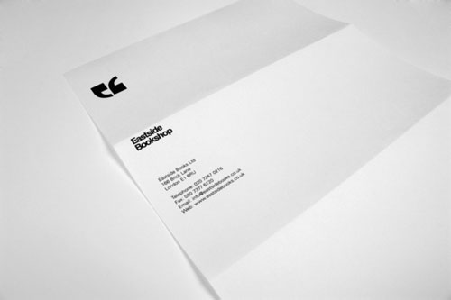 Eastside Bookshop identity - Letterhead And Logo Design Inspiration