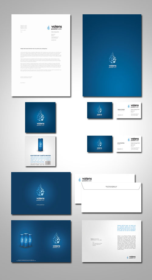 valens Energy Drink - Identity - Letterhead And Logo Design Inspiration
