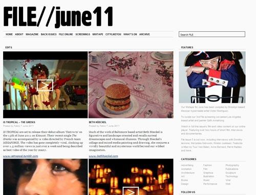 file-magazine.com - Minimalist site