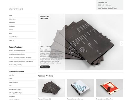 publishedbyprocess.com - Minimalist site