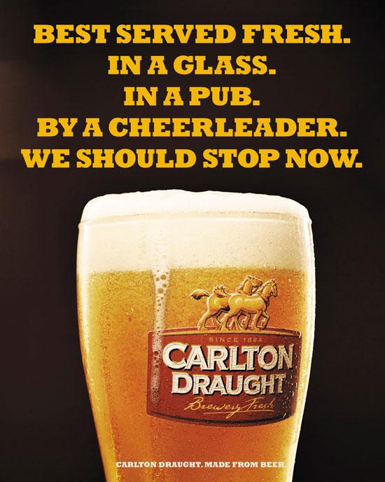 Carlton Draught Outdoor Advertising