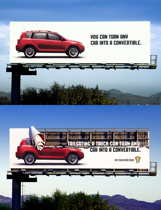 You can turn any car into a convertible Outdoor Advertising
