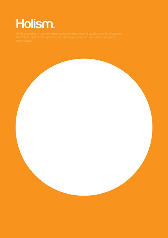 Holism minimalist graphic design poster