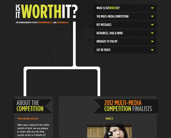 isitworthit.ca Site Design