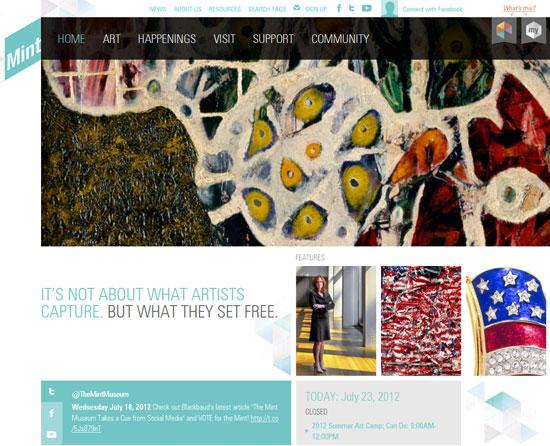 mintmuseum.org Site Design