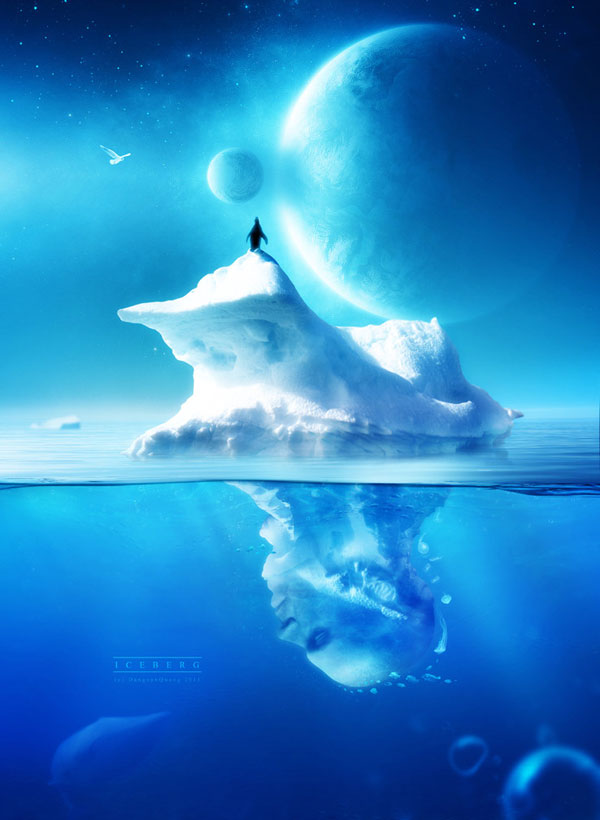 Iceberg Photoshop Design Inspiration