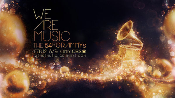The 54th Grammy's - We Are Music Photoshop Design Inspiration