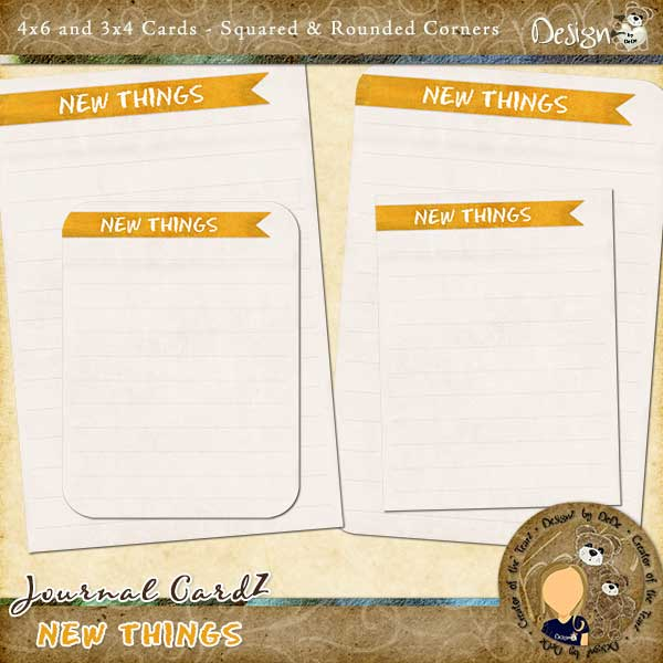 Journal CardZ - New Things by DesignZ by DeDe