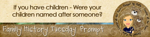 Journal prompt: If you have children, were your children named after someone?