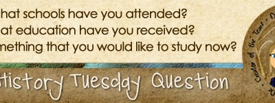 Journal Prompt: What schools have you attended? What education have you received? Is there something that you would like to study now?