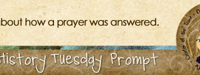 Journal prompt: Write about how a prayer was answered.