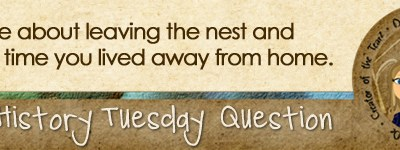 Journal Prompt: Write about leaving the nest and the first time you lived away from home.