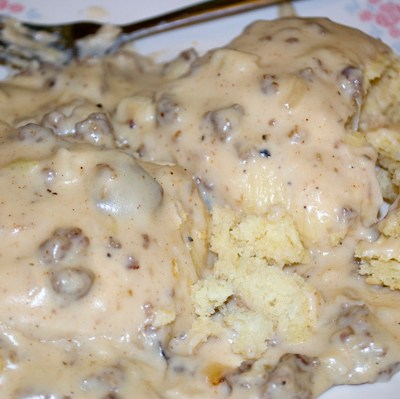 Buttermilk Biscuits & Sausage Gravy by DeDe Smith