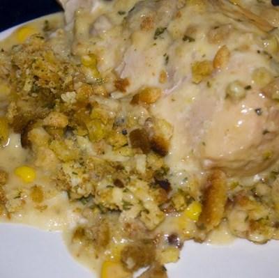 Crockpot Chicken 'n Stuffing by DeDe Smith