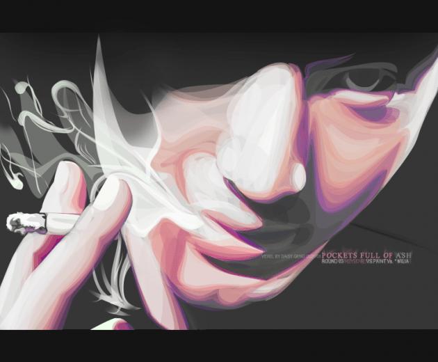 vexel illustration smoke