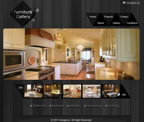 Creating A Clean Furniture Website And Gallery Layout In
