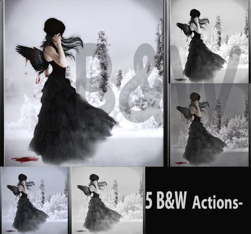 black and white photoshop actions.
