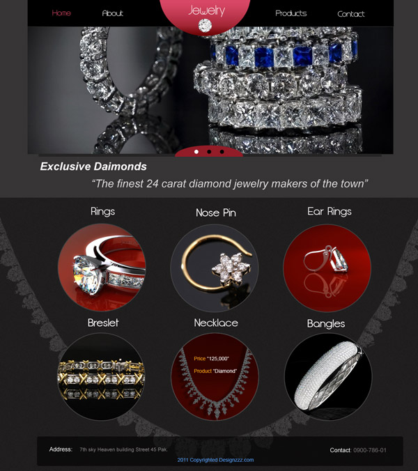 Download A Jewelers Website PSD Template