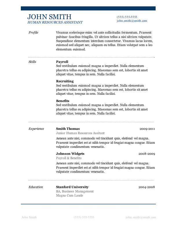 Sample Resume Layout. Resume Layout Sample View Screenshot Of