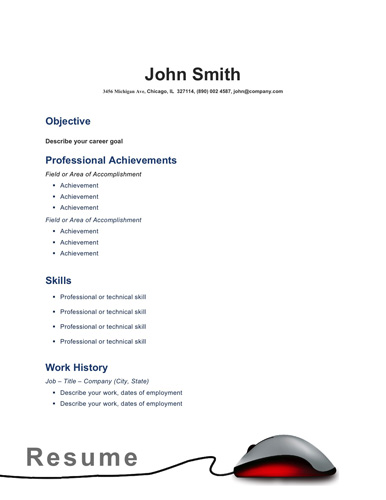 Resume Format Simple Example. Basic Resume Format Basic Resume