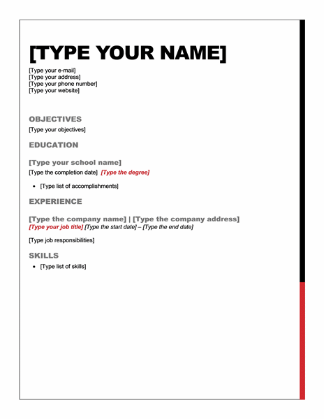 Short Resumes Examples. Template. Short Resume Examples