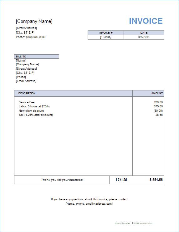 free word invoice template. price list templates service invoice, Invoice templates