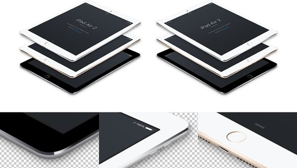 iPad Air 2 vector PSD Mockup