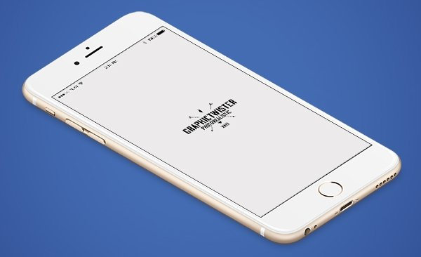 iPhone 6 Plus Isometric View Mockup