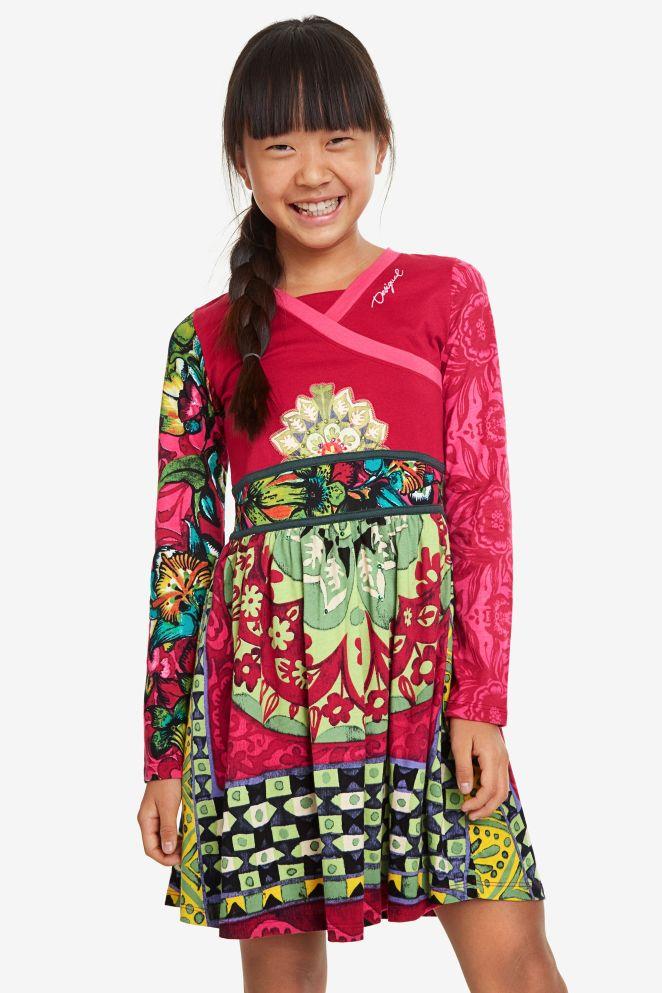 Vestito incrociato floreale
