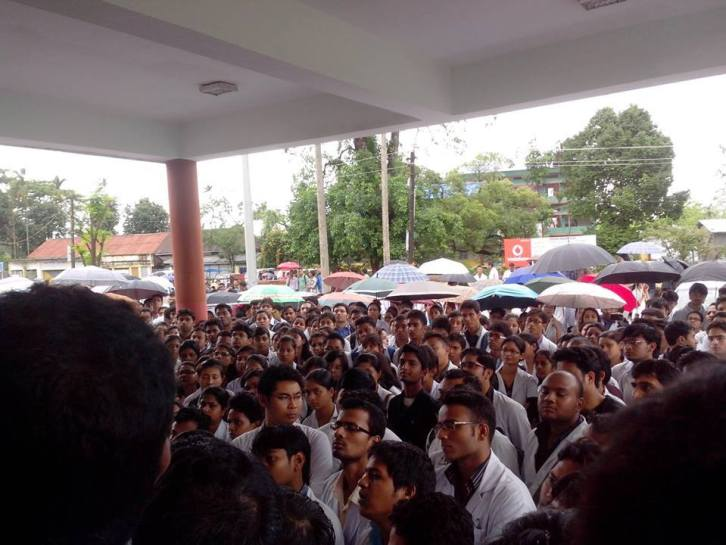 Assam Medical College Lady Doctor Death Protest 3