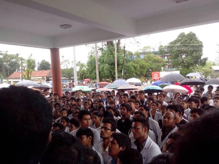 Assam Medical College Lady Doctor Death Protest 3