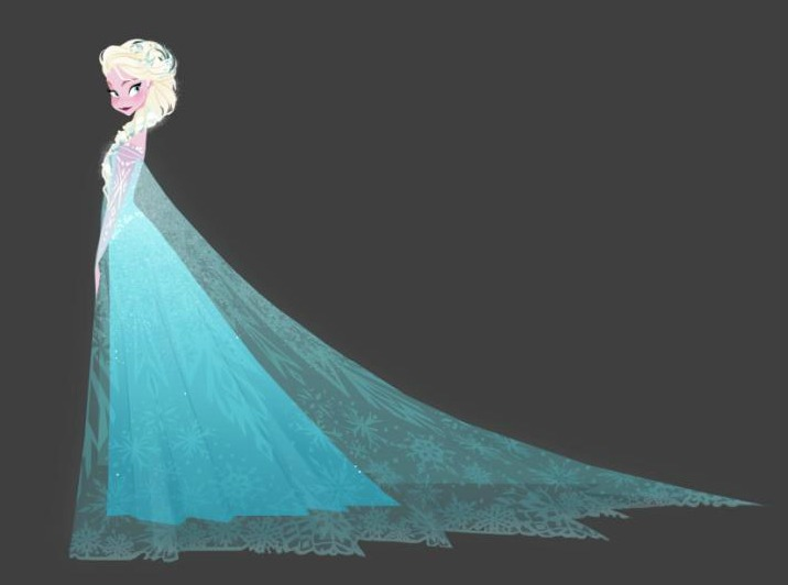 frozen elsa dress sketch