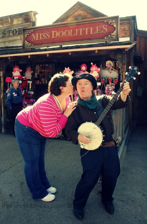 Adrienne Van Houten Kissing the Banjo man