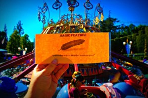 The Magic Feather to ride the Dumbo ride at Disneyland – Wordless Wednesday