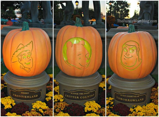 Disney character pumpkin carvings at disneyland resort for Buzz lightyear pumpkin template