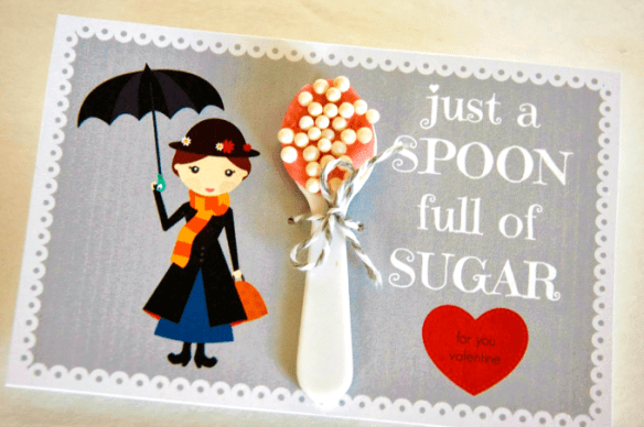 Mary Poppins Spoonful of Sugar Valentine