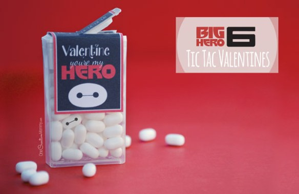 Big Hero 6 Tic Tac Valentines